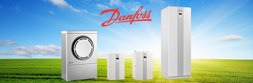 A range of Danfoss air source heat pump systems that heat pumps Ireland offers