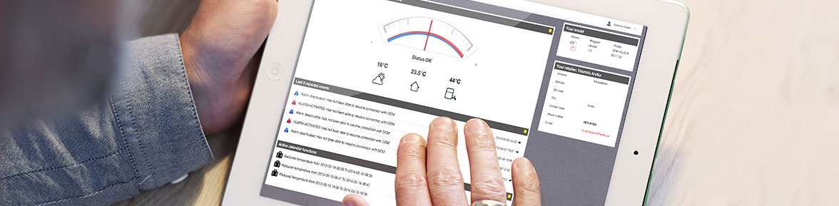 Thermia home heating online control app