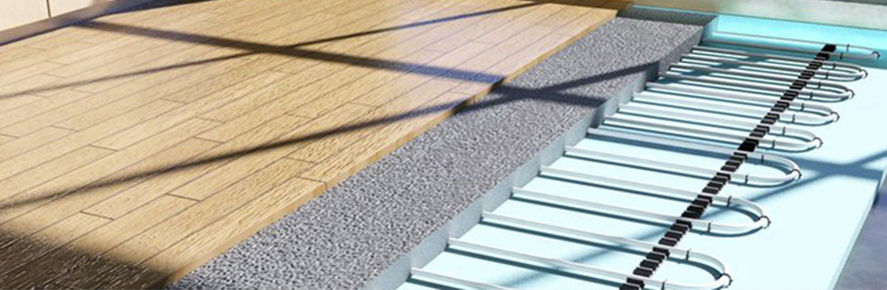 Clip and track Underfloor heating system