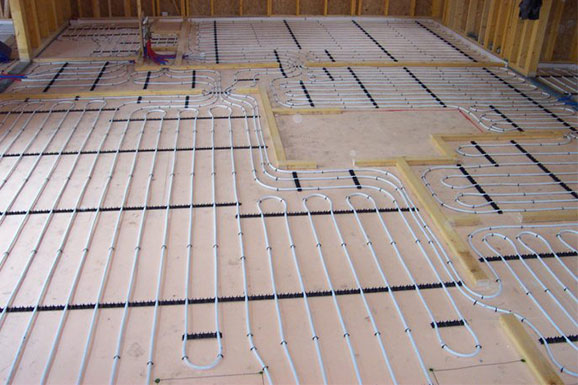 Clip and track underfloor heating