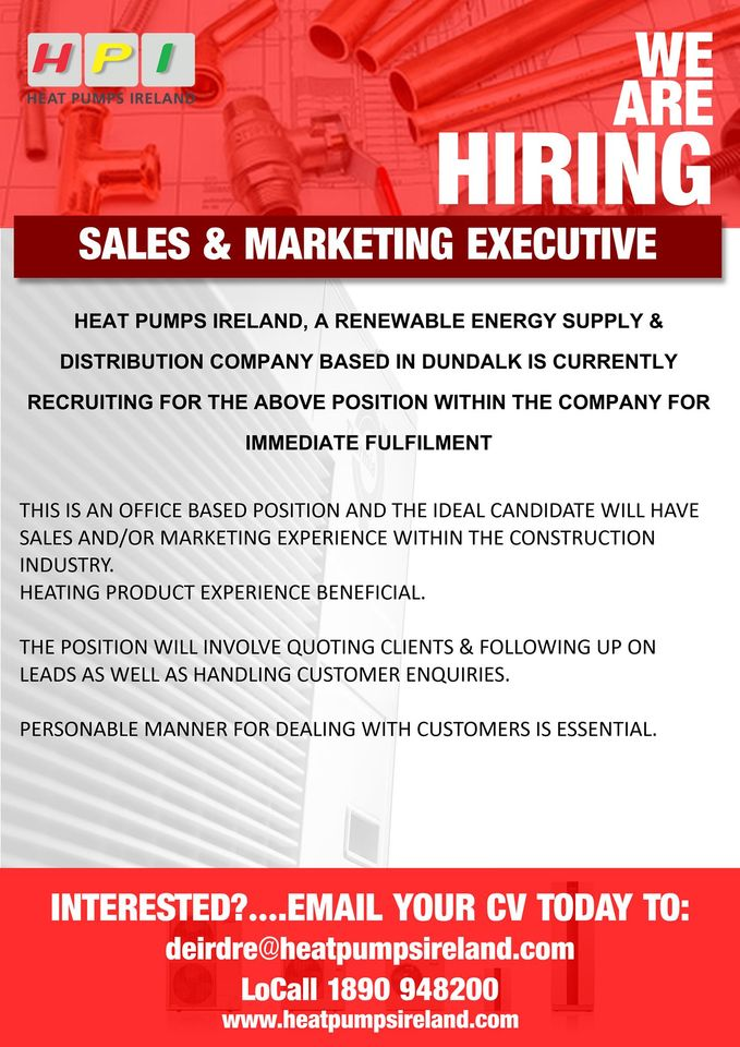 sales & marketing executive position